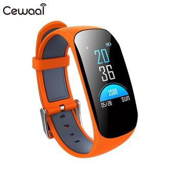 "Cewaal Smart Bracelet Curve BT4.0 0.96"" Heart Rate Monitor Pedometer Multifunction Z17C Smart Wristband"