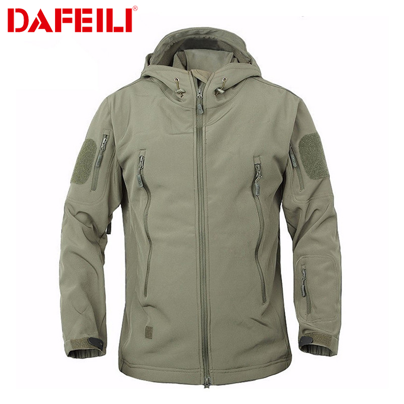 2018 Outdoor Waterproof SoftShell Jacket Hunting Windbreaker Ski Coat Hiking Rain Camping Fishing Tactical Clothing Men&Women(China)