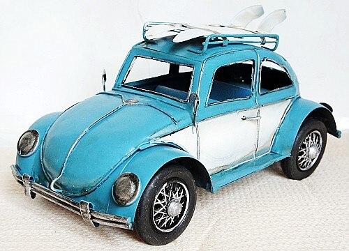 ФОТО 8590 Vintage Iron Car Model Van Beetle Creative Ornaments