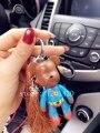 Медведь Брелок браун Кисти Мрачный Плюшевый Мишка брелки натуральная кожа landyard Мешок Шарм Прохладный супермен Ключи Кольцо Брелок Мишка