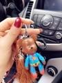 Bear Key Chain brown Tassels Gloomy Teddy Bear keychains genuine leather landyard Bag Charm Cool Keys Ring Bear Keyring superman