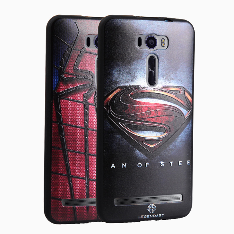 Ultra thin Frosted 3D painted reliefs silicon Back Cover Case for Asus Zenfone 2 Laser ZE500KL 5.0 inch