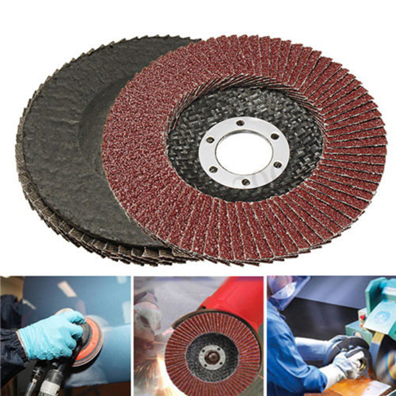 Professional Flap Discs 115mm 4.5 Inch Sanding Discs 60 Grit Grinding Wheels Blades For Angle Grinder