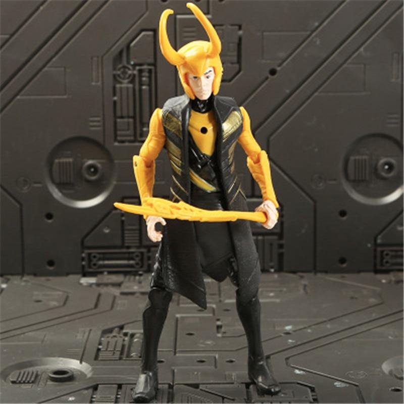 Marvel Мстители 3 Бесконечность войны фильм Аниме Супер Герои Капитан Америка, железный человек, Халк Тор супергерой Фигурки игрушки - Цвет: Loki