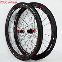 PASAK 700C carbon wheelset Road Bike 40mm 55mm Carbon Hub and Carbon Rim Bicycle wheels