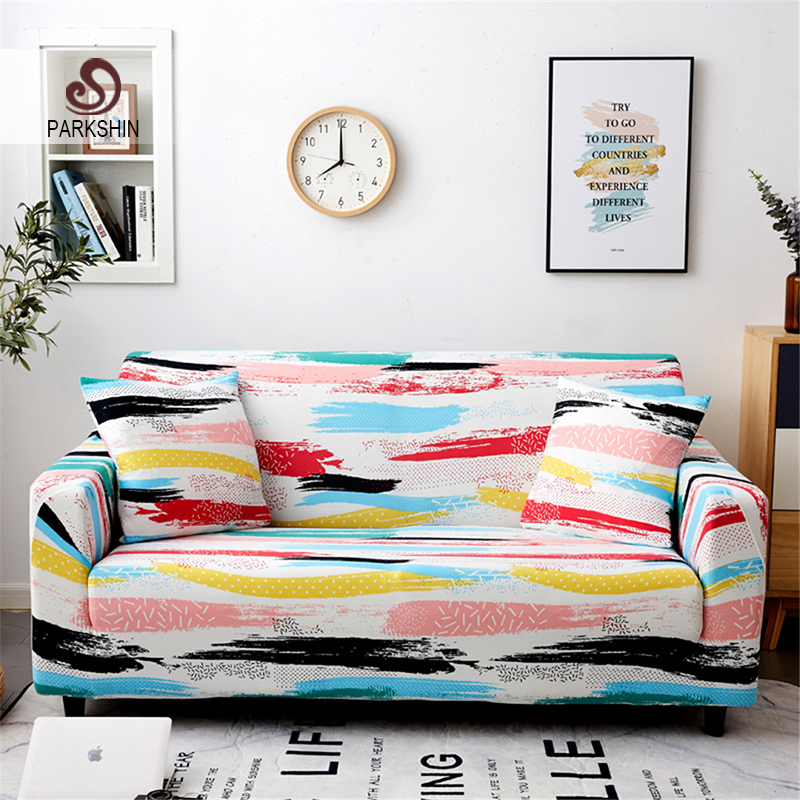 Parkshin Colorful 1/2/3/4 Seater Slipcover Stretch Sofa Covers Furniture Protector Polyester Loveseat Couch Cover Sofa Towel-in Sofa Cover from Home & Garden