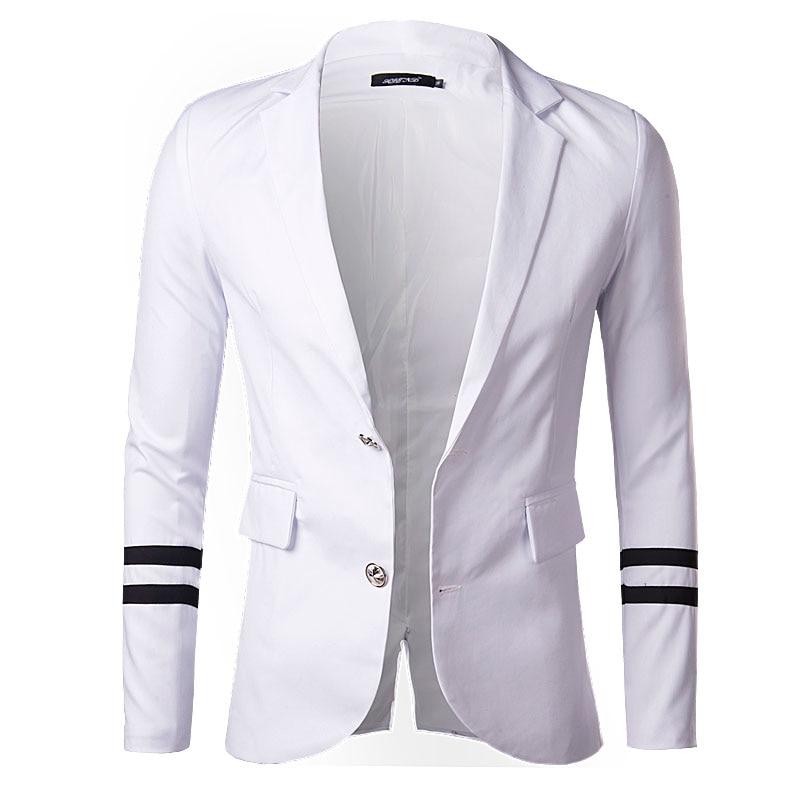 Aliexpress.com : Buy Men Blazer Slim Fit Suit Jacket White Blue ...