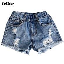 Yorkzaler verano niños Jeans para niña Casual Denim agujero pantalones cortos Niño bebé recién llegados niños niña niño ropa para 2-7Y