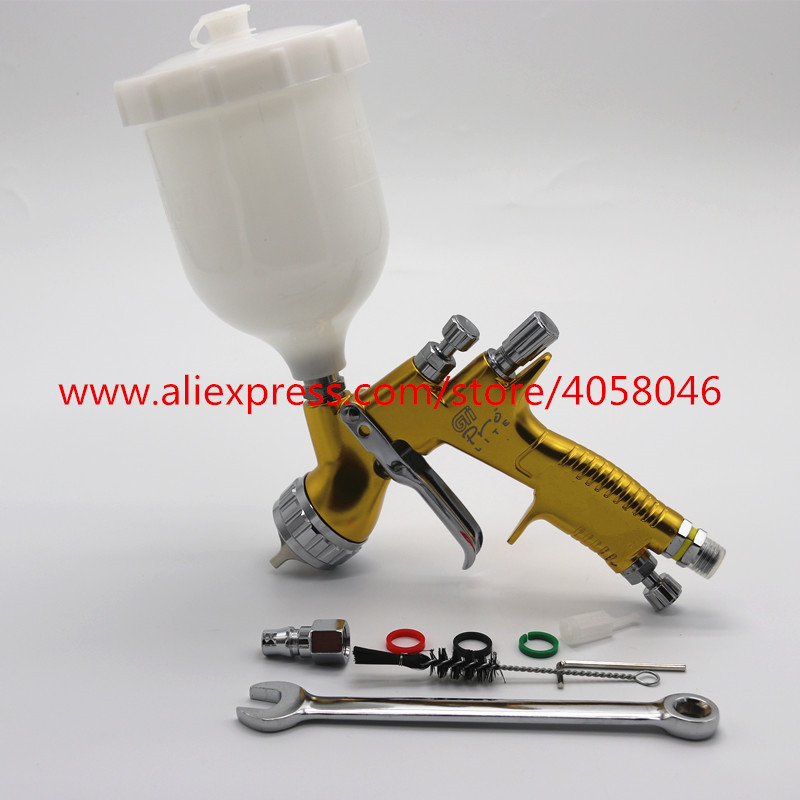 High quality professional Gti pro lite golden painting gun TE20 T110 1 3mm nozzle spray gun