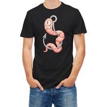 T Shirt Cartoon Warm on Fishinger Hook T Shirts Short Sleeve Leisure Fashion Summer 2018 New