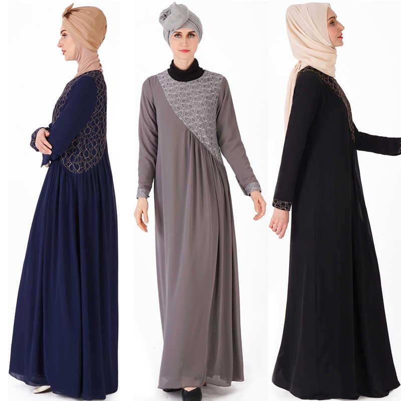 라마단 이드 무바라크 이슬람 Hijab 드레스 Caftan Marocain Kaftan 두바이 Abaya 터키 드레스 Abayas 여성 이슬람 의류 Vestido