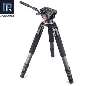 Image 4 - RT90C soporte de cámara de carga de 40kg, Trípode De Fibra De Carbono profesional de alto nivel para observación de aves, resistente, tubo de 40mm, adaptador de cuenco de 75mm