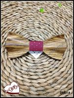 New Hot Selling Christmas Gift Accessories Luxury Purple Zebra Wood Bowtie Men Bow Tie Silk