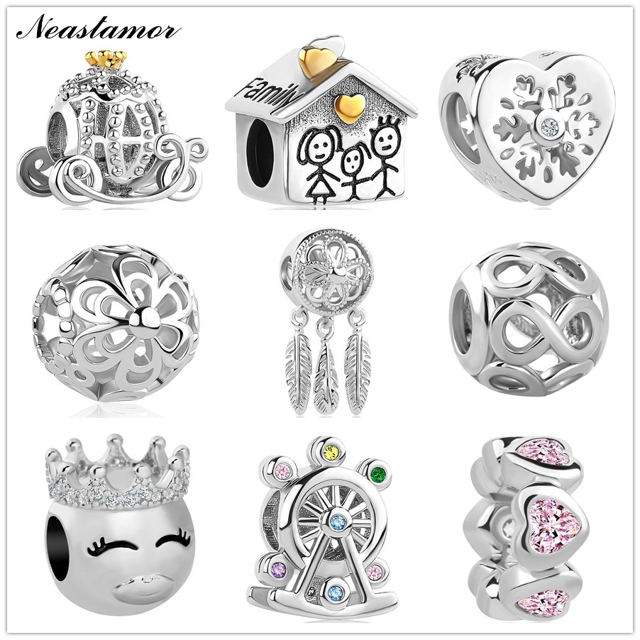 2020 new Infinite Shine Sweet Home Bead fit Original Pandora charms Bracelet necklace trinket jewelry for women man DIY making(China)