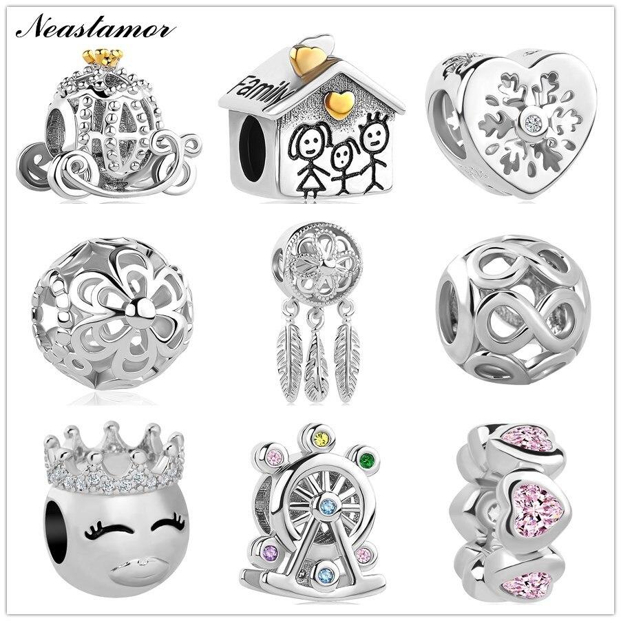2020 nueva pulsera Infinite Shine dulce Home Bead fit Original Pandora charms collar joyería de la baratija para mujeres y hombres fabricación DIY|cuentas|   - AliExpress