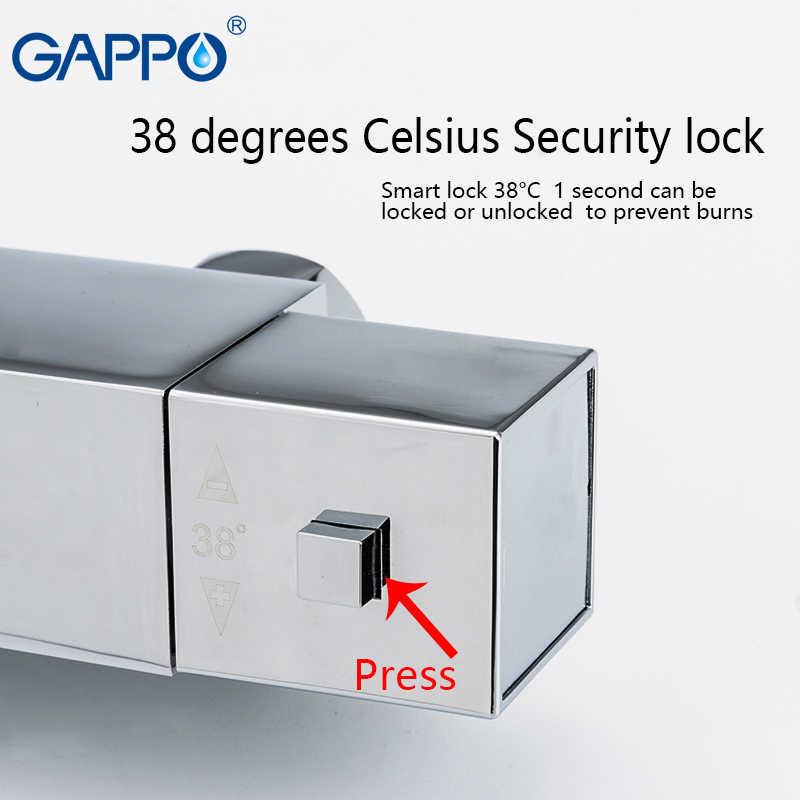 GAPPO bateria natryskowa wanna bateria kuchenna zestaw prysznicowy z deszczownicą termostatyczna bateria łazienkowa przysznic do montażu na ścianie bateria kranowa