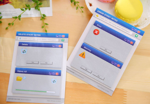 Novelty Windows System Notice Sticky Notes Memo Pad Escolar Papelaria School Supply Bookmark Post it Label