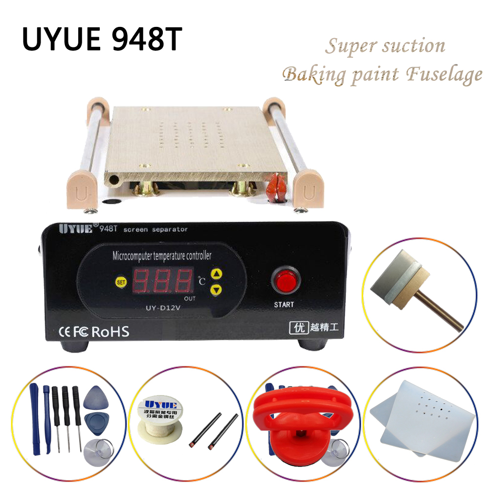 UYUE 948T 7Inch Preheat Separate Machine LCD Built-in Vacuum Pump Screen Separator  Split Screen Machine Phone Heating Platform