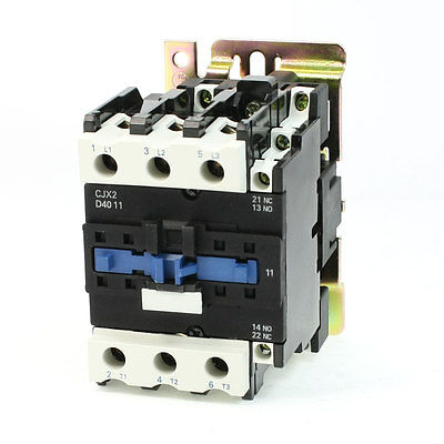 цена на CJX2-4011 DIN Rail Mount AC Contactor 3 Pole One NO 24V Coil 60A