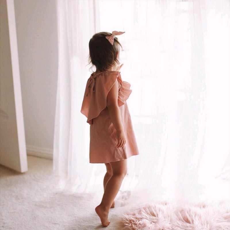 Vestido Da Menina Da Criança Do Bebê recém-nascido Pink Lotus Flower Princess Girl Dress Carnaval Princesa Do Bebê Vestido Da Menina Miúdo Roupas