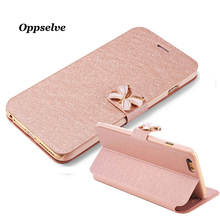 Oppselve Filp Leather Case For iPhone 8 7 6 6s Plus Luxury Wallet Card Full Cover Protective Phone Capinhas