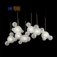 LED Nordic Iron Frosted Glass White Bubbles LED Lamp LED Light.Pendant Lights.Pendant Lamp.Pendant light For Dinning Room