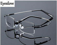 Eyesilove Retail 1pcs half-rim optical frames metal myopia glasses frame for men women prescription glasses