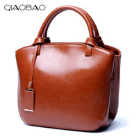 QIAOBAO Famous Brand bag 100% Real Leather Bags shoulder Messenger bag Europe and the United States fashion cowhide leather bag