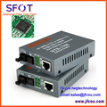O envio gratuito de Fibra Óptica Transceptor de Fibra Única Fibra Monomodo Conversor de Mídia 10/100 M 25 KM, SC Porto, 1 Par