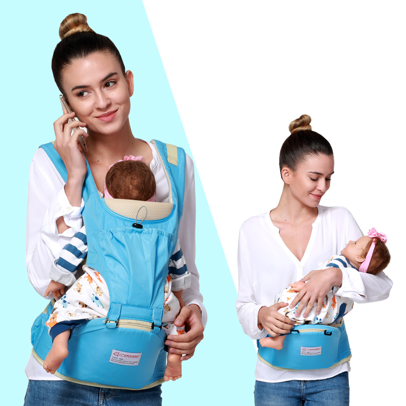 Image 5 - 0 36 Months 20kg Summer Breathable Mesh Ergonomic Baby Carrier Hipseat Backpack Kangaroo Baby Sling Wrap Hip Seat Waist Stool-in Backpacks & Carriers from Mother & Kids