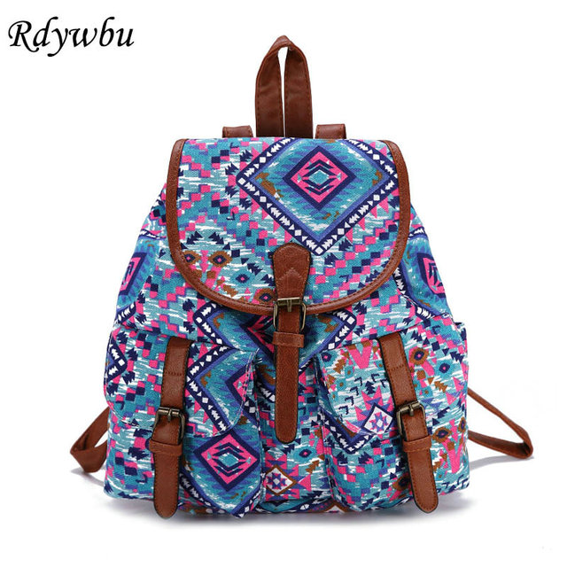 e95aa88bdfee Rdywbu Vintage Canvas Printing Backpack Women National Ethnic Travel Bag  Girls Owl Big Schoolbag Female Bagpack Mochila B612