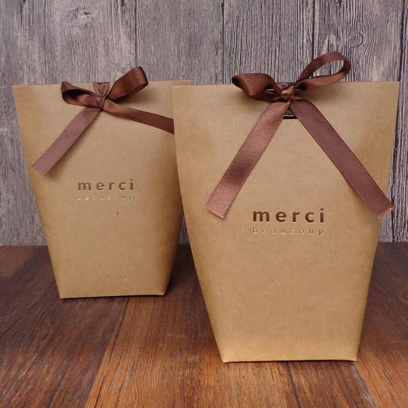 """20/40 шт. высококлассные черный бронзового цвета """","""" Конфеты Сумочка для драже французский спасибо свадьба брак сувениры картонная подарочная коробка"""