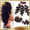 """Rosa produtos de cabelo da malásia virgem cabelo 3 pcs lote 8 """" - 30 """", Barato extensão do cabelo humano da malásia onda corpo natural cabelo preto"""