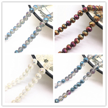Wholesale 8mm Austria Faceted High Quality Crystal Glass Loose Spacer Round Beads Ball Handmade DIY Jewelry Making Bracelet