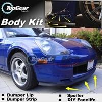 For TOYOTA MR2 1984~2007 Front Bumper Lip / Spoiler For TopGear Friends Car Tuning / TOPGEAR Body Kit / Strip Skirt