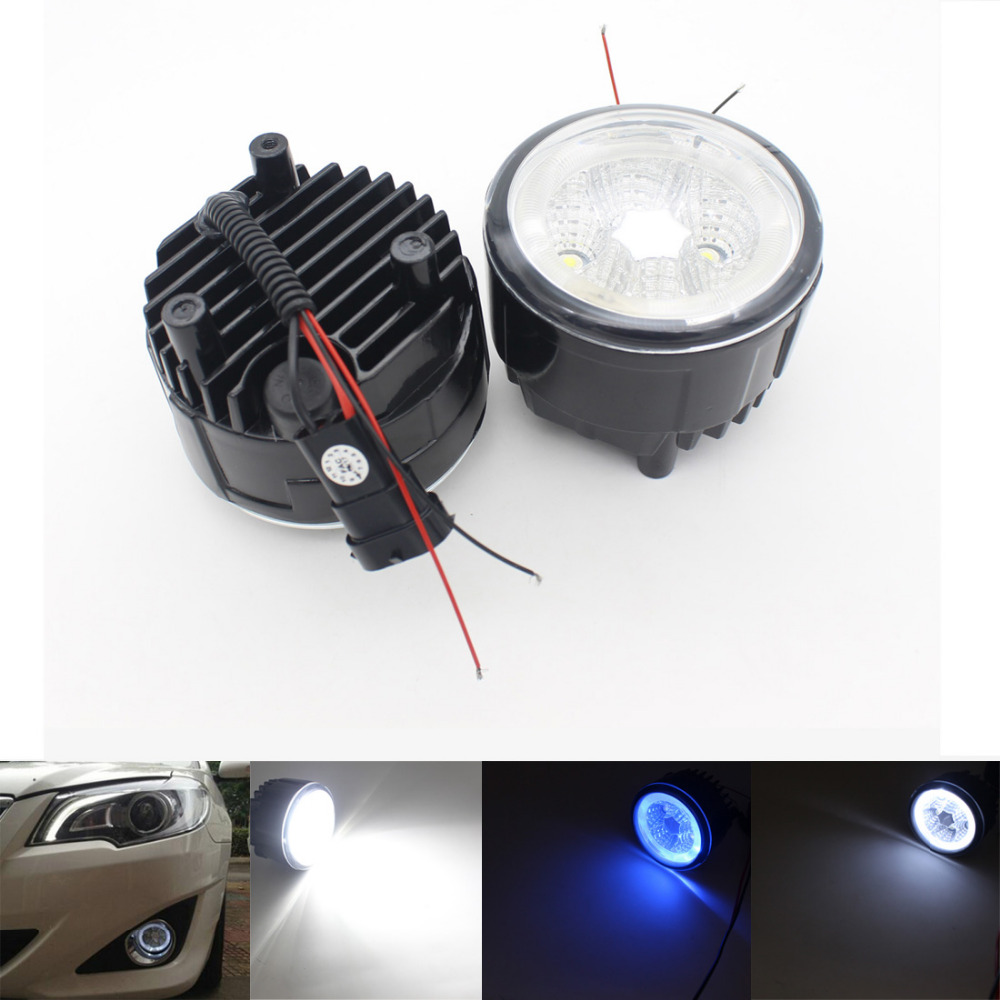 Automobiles Headlight Fog Light Car LED Bulb Daytime Running Lights Angel eyes Fog Lamp Fit For Nissan X-Trail Tiida Murano new arrival a pair 10w pure white 5630 3 smd led eagle eye lamp car back up daytime running fog light bulb 120lumen 18mm dc12v