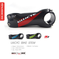 Newest Ullicyc 6 17 Angle Road Carbon Bicycle Stem 31 8 80 120mm 6 17 Degrees