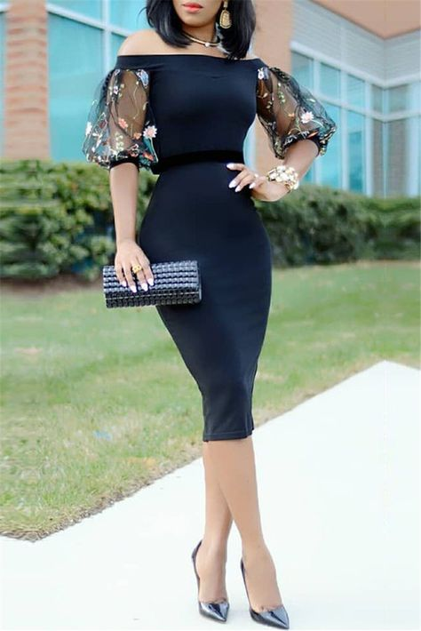 Navy Blue Cocktail Dresses Satin Half Sleeves  Lace Off the Shoulder Knee Length Mermaid Party Plus Size Homecoming Dresses
