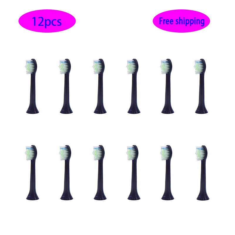 12p/8p hx6064 Oral Electric Toothbrush Attachments Replacement Brush Heads Fits for Philips Sonicare hx6064/hx6530/hx6711/hx6730 image