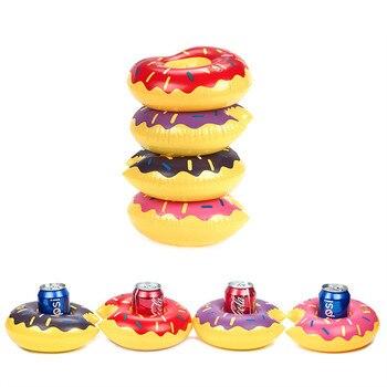 Simulación con forma de burro, boya salvavidas para beber, portavasos para piscina flotante, portavasos para cola, juguetes para piscina, anillo para nadar de unicornio