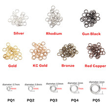 ZHUKOU 200pcs/lot 4 5 6 7 8 Jump Rings Silver/Gold Split Rings Connectors For Diy Jewelry Finding Making Accessories Wholesale(China)