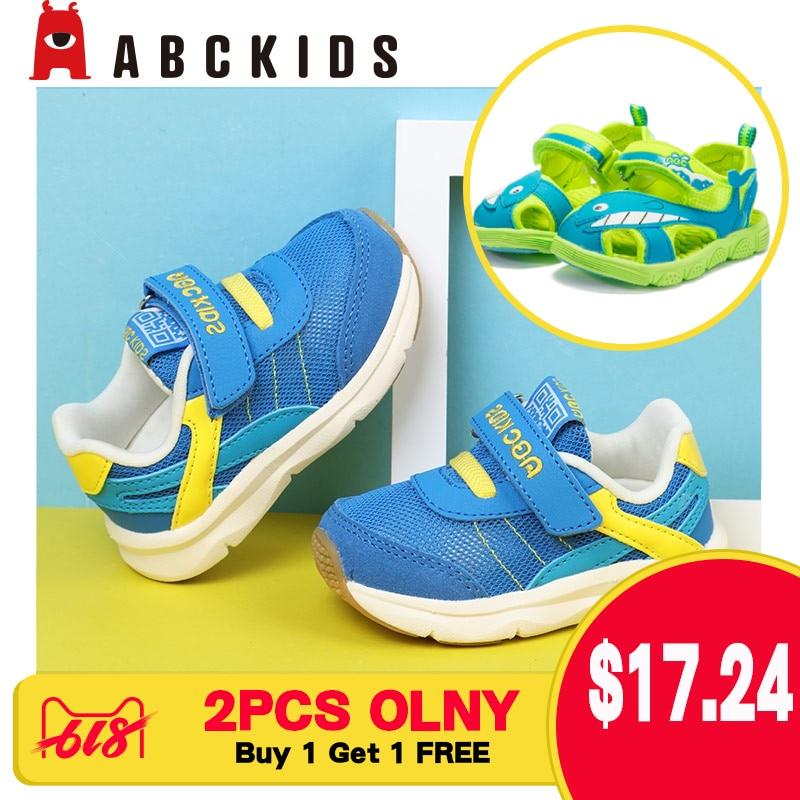 ABC enfants garçons mode sport chaussure décontracté course casual respirant Sneaker grandes chaussures pour enfants (acheter 1 obtenir 1 gratuit)