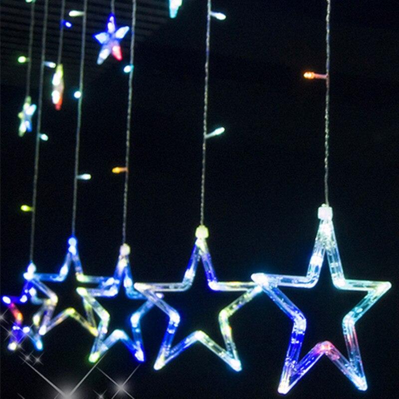 vnl 110 v240 v gordijn ster lichtslingers kerst nieuwjaar decoratie kerst led verlichting kleur kerstversiering in vnl 110 v240 v gordijn ster