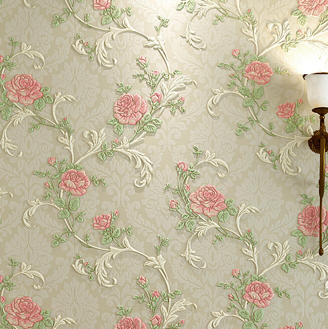 European Classical Flower Stereo 3D Wallpaper Relief Murals Living Room Bedroom Wallpaper For Walls Background Wallpaper Roll