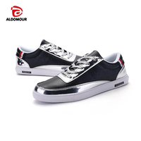 ALDOMOUR Brand Men's Skateboarding Shoes Glitter Sneakers for Male with Low Upper Flat Shoes High Quality Men's Sport Shoes 1168