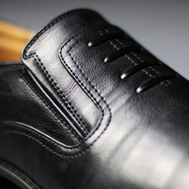 1 Hommes black Marque Cuir Formelle 2017 Confortable black 1 En Chaussures brown 1 W781 Main r5368 3 Robe w781 Z6 Appartements R5368 R1qdqf