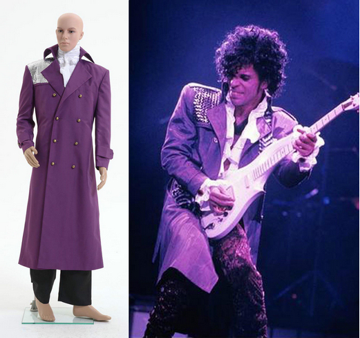 New Arrival Purple Rain Costume Prince Rogers Nelson Coat Shirt Pants Outfits Cosplay Costume