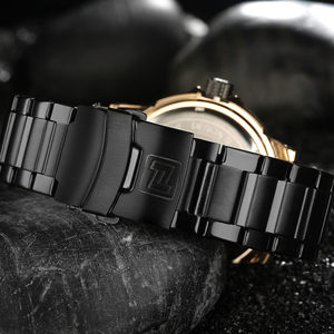 Image 5 - NAVIFORCE Mens 시계 탑 럭셔리 브랜드 남자 전체 스틸 시간 쿼츠 시계 아날로그 방수 스포츠 육군 군사 손목 시계 시계