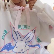 evil cute rabbit bat hoodie