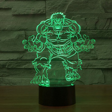 Avengers Hulk LED Night Light 3D Lamp luminaria de mesa Lighting Toy Kids Room LED USB Electronic Gadget Home Decor Bed Light